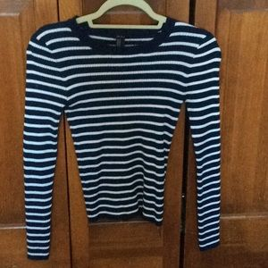 Forever 21 blue and white stripped sweater. Medium